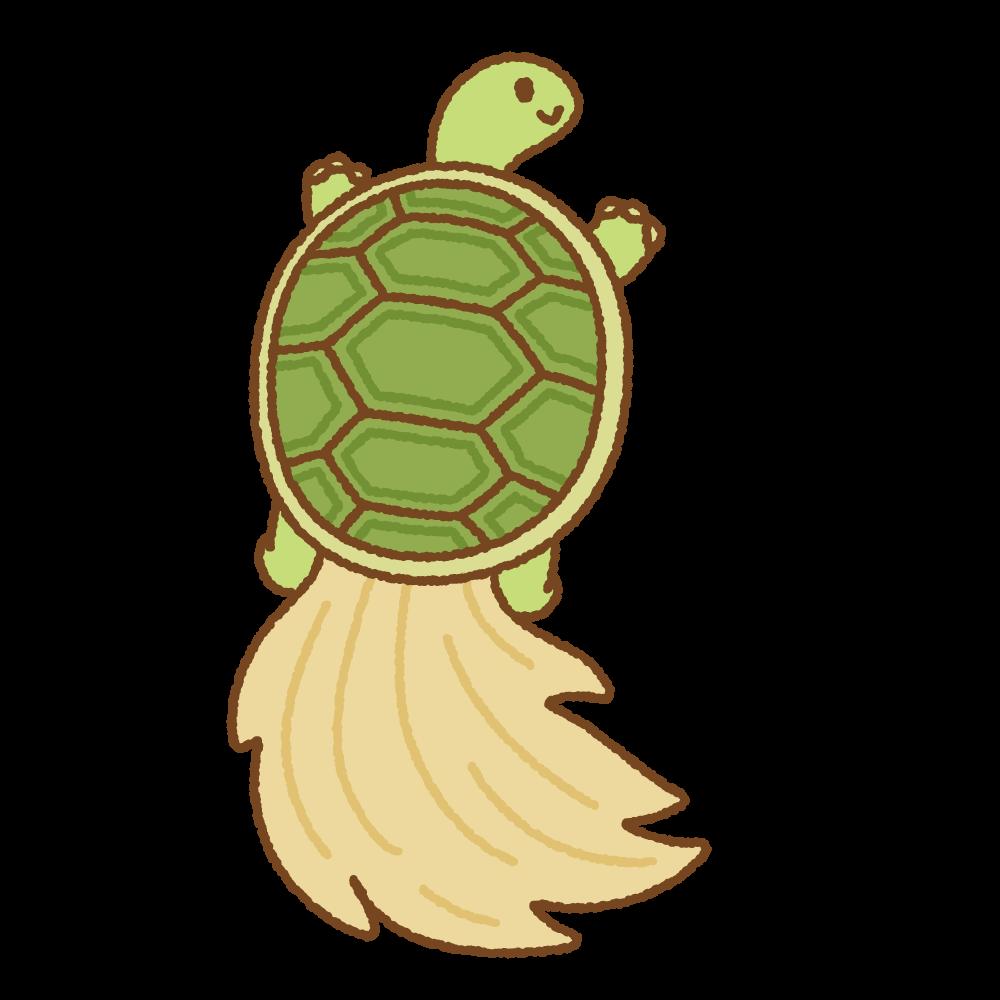 蓑亀のフリーイラスト Clip art of minogame