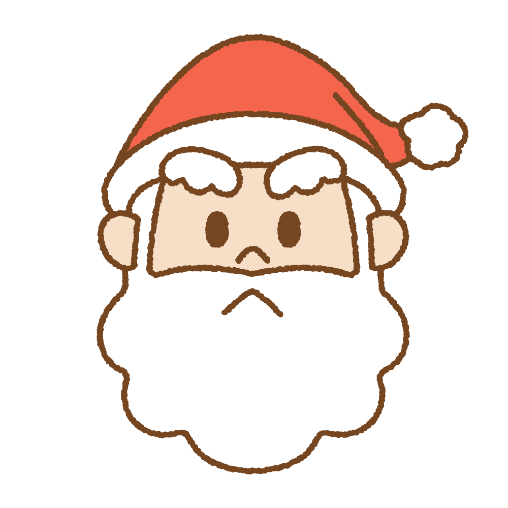 サンタクロースの顔のフリーイラスト Clip art of santa-claus face