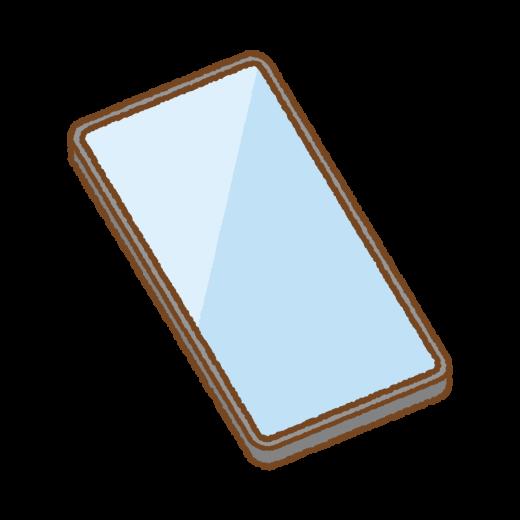 ベゼルレスのスマートフォンのイラスト