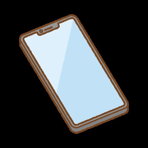 ノッチ付きスマートフォンのイラスト
