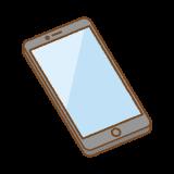 スマートフォンのフリーイラスト Clip art of smartphone