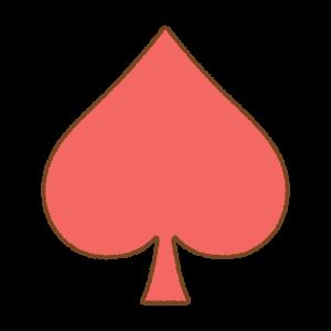 スペードマークのフリーイラスト Clip art of spade-mark