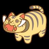 虎の張り子のフリーイラスト Clip art of tora-hariko