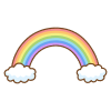虹のフリーイラスト Clip art of rainbow