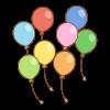 風船のフリーイラスト Clip art of balloon