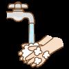 手洗いのフリーイラスト Clip art of washing hands